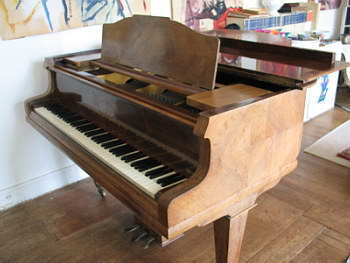 Piano 1/4 queue SCHIEDMAYER 1m65 de 1915 en palissandre